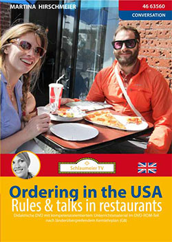 In English - Ordering in the USA - Ein Unterrichtsmedium auf DVD