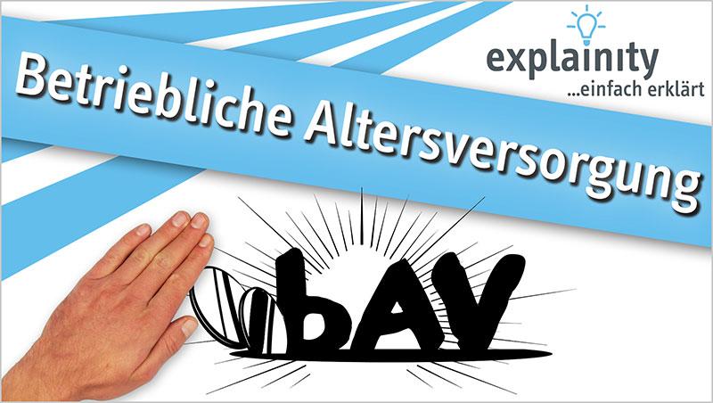 explainity® Erklärvideo - Betriebliche Altersversorgung bAV einfach erklärt - Ein Unterrichtsmedium auf DVD