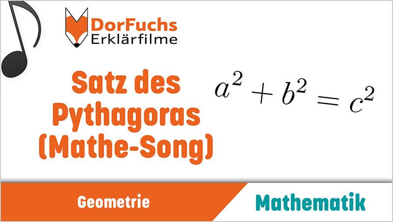 Satz des Pythagoras (Mathe-Song) - Ein Unterrichtsmedium auf DVD