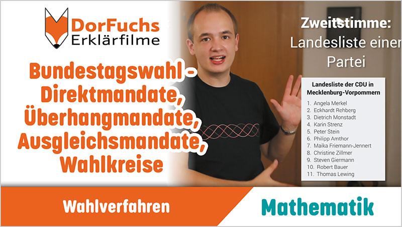 Bundestagswahl - Direktmandate, Überhangmandate, Ausgleichsmandate, Wahlkreise - Ein Unterrichtsmedium auf DVD