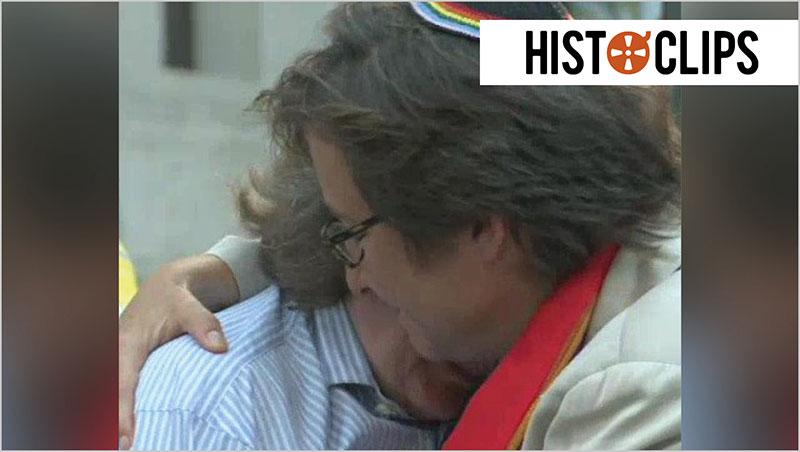 Sturm auf New Yorks Standes�mter: Homosexuelle d�rfen heiraten