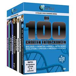 Die 100 größten Entdeckungen - Box [9 DVDs] - Ein Unterrichtsmedium auf DVD