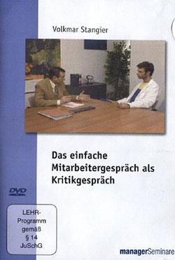 Das einfache Mitarbeitergespräch als Kritikgespräch - Ein Unterrichtsmedium auf DVD