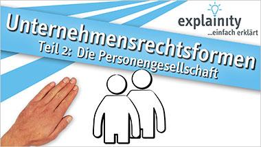 explainity® Erklärvideo - Personengesellschaft einfach erklärt - Ein Unterrichtsmedium auf DVD