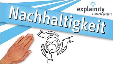 explainity® Erklärvideo - Nachhaltigkeit einfach erklärt - Ein Unterrichtsmedium auf DVD