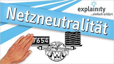 explainity® Erklärvideo - Netzneutralität einfach erklärt - Ein Unterrichtsmedium auf DVD