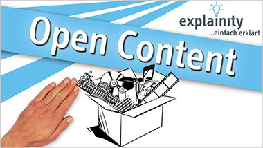 explainity® Erklärvideo - Open Content einfach erklärt - Ein Unterrichtsmedium auf DVD