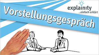explainity® Erklärvideo - Vorstellungsgespräch einfach erklärt - Ein Unterrichtsmedium auf DVD