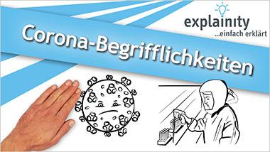 explainity® Erklärvideo - Corona-Begrifflichkeiten einfach erklärt - Ein Unterrichtsmedium auf DVD