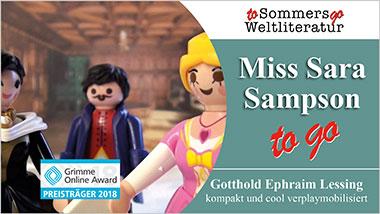 Miss Sara Sampson to go - Ein Unterrichtsmedium auf DVD