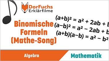 Binomische Formeln (Mathe-Song) - Ein Unterrichtsmedium auf DVD