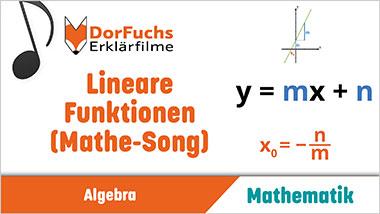 Lineare Funktionen (Mathe-Song) - Ein Unterrichtsmedium auf DVD