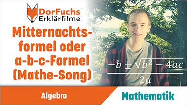 Mitternachtsformel  oder a-b-c-Formel (Mathe-Song) - Ein Unterrichtsmedium auf DVD