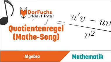 Quotientenregel (Mathe-Song) - Ein Unterrichtsmedium auf DVD