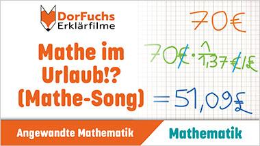 Mathe im Urlaub!? (Mathe-Song) - Ein Unterrichtsmedium auf DVD
