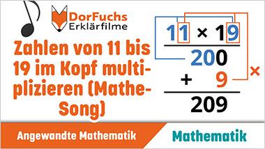 Zahlen von 11 bis 19 im Kopf multiplizieren (Mathe-Song) - Ein Unterrichtsmedium auf DVD