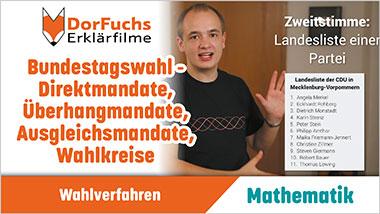 Bundestagswahl - Direktmandate, �berhangmandate, Ausgleichsmandate, Wahlkreise - Ein Unterrichtsmedium auf DVD