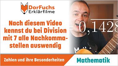 Nach diesem Video kennst du bei Division mit 7 alle Nachkommastellen auswendig - Ein Unterrichtsmedium auf DVD