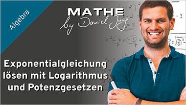 Exponentialgleichung l�sen mit Logarithmus und Potenzgesetzen - Ein Unterrichtsmedium auf DVD
