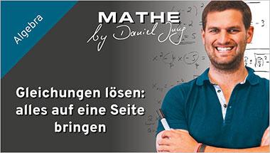Gleichungen l�sen: alles auf eine Seite bringen - Ein Unterrichtsmedium auf DVD