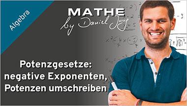 Potenzgesetze: negative Exponenten, Potenzen umschreiben - Ein Unterrichtsmedium auf DVD