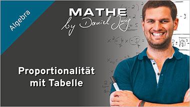 Proportionalit�t mit Tabelle - Ein Unterrichtsmedium auf DVD
