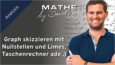Graph skizzieren mit Nullstellen und Limes, Taschenrechner ade ;) - Ein Unterrichtsmedium auf DVD