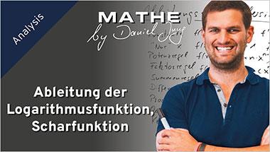 Ableitung der Logarithmusfunktion, Scharfunktion - Ein Unterrichtsmedium auf DVD