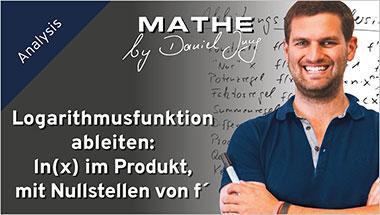 Logarithmusfunktion ableiten: ln(x) im Produkt, mit Nullstellen von f´ - Ein Unterrichtsmedium auf DVD