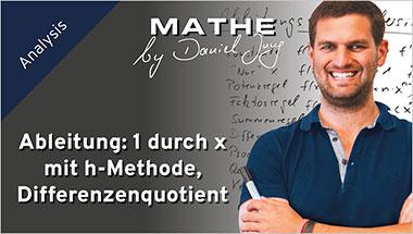 Ableitung: 1 durch x mit h-Methode, Differenzenquotient - Ein Unterrichtsmedium auf DVD