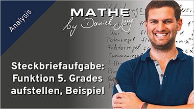 Steckbriefaufgabe: Funktion 5. Grades aufstellen, Beispiel - Ein Unterrichtsmedium auf DVD