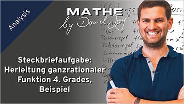 Steckbriefaufgabe: Herleitung ganzrationaler Funktion 4. Grades, Beispiel - Ein Unterrichtsmedium auf DVD