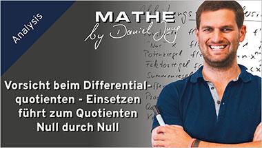 Vorsicht beim Differentialquotienten - Einsetzen führt zum Quotienten Null durch Null - Ein Unterrichtsmedium auf DVD