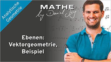 Ebenen: Vektorgeometrie, Beispiel - Ein Unterrichtsmedium auf DVD