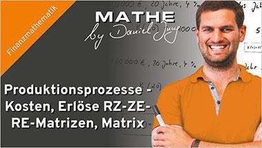 Produktionsprozesse - Kosten, Erlöse RZ-ZE-RE-Matrizen, Matrix - Ein Unterrichtsmedium auf DVD