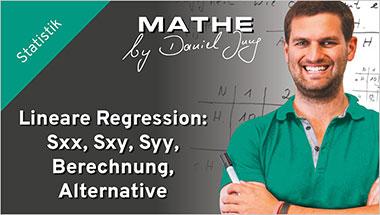 Lineare Regression: Sxx, Sxy, Syy, Berechnung, Alternative - Ein Unterrichtsmedium auf DVD