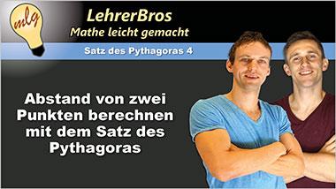 Abstand von zwei Punkten berechnen mit dem Satz des Pythagoras - Ein Unterrichtsmedium auf DVD