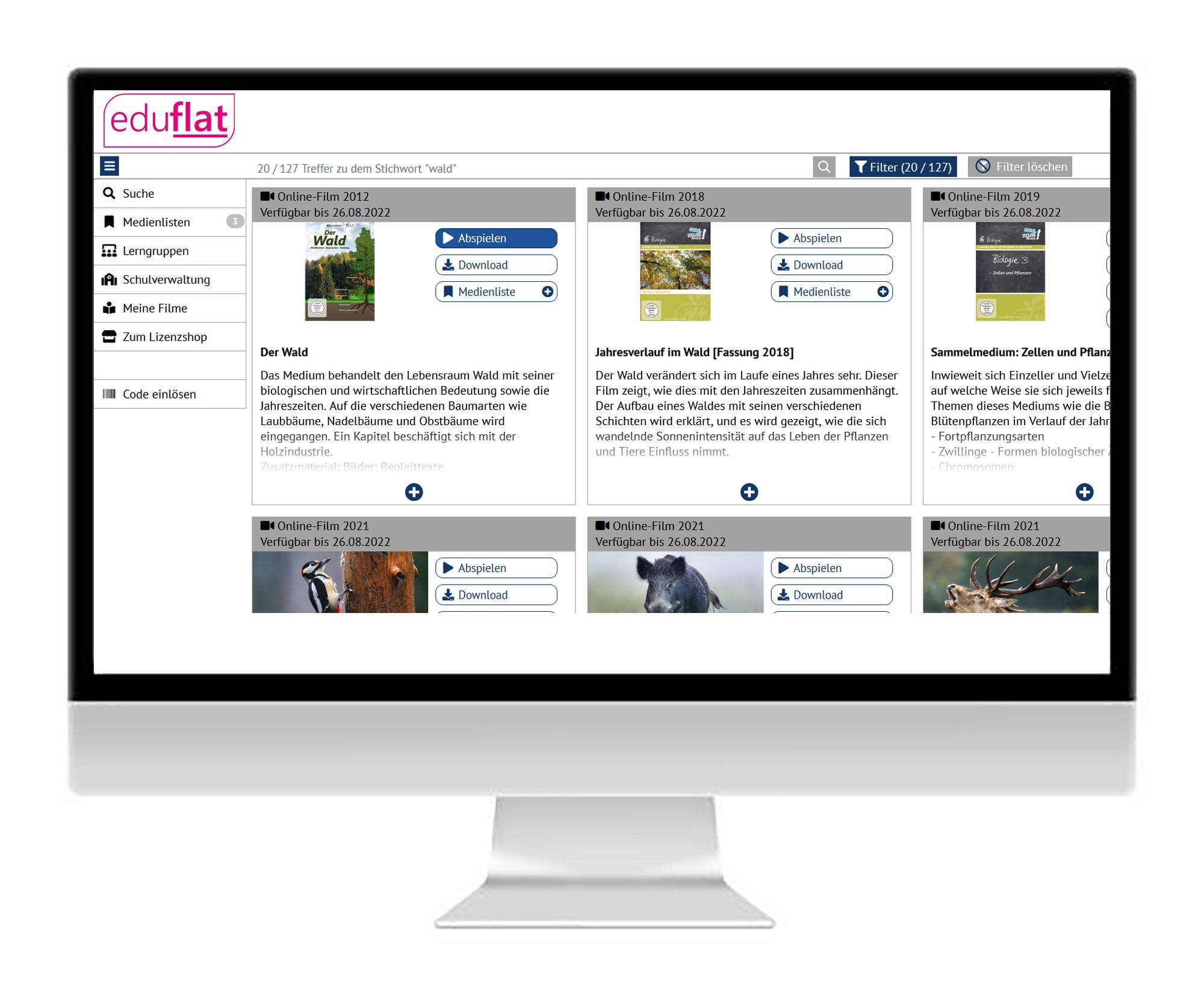 Im Onlineportal einloggen / registrieren